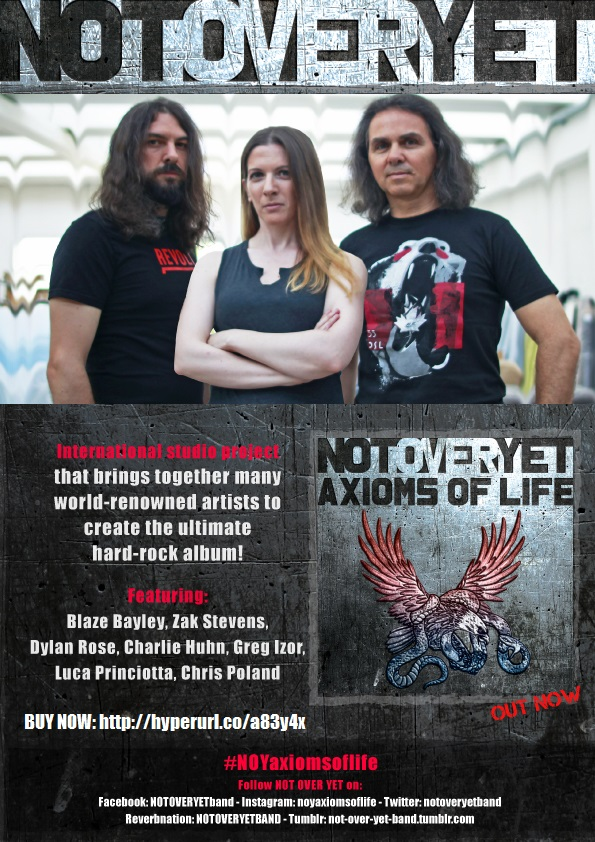 NOT OVER YET FROM ITALY RELEASES NEW CD-AXIOMS OF LIFE