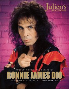 Property from the Estate of Ronnie James Dio Now on Julien's Live!