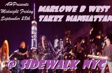 Trumpeteer Mac Gollehon  & Marlowe B West Takez Manhattan at The Sidewalk Cafe NYC